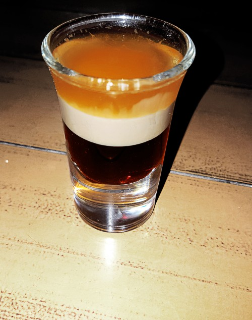 B52 shot at Karel's beach bar