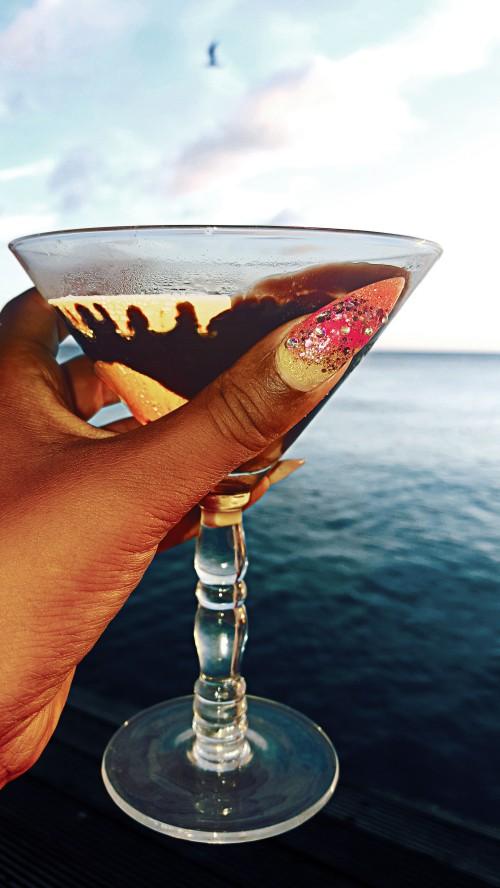 Creamy cocktail at Karel's Beach Bar