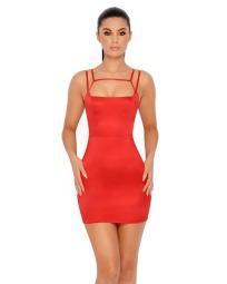 Red Satin Cutout Dress €37,29