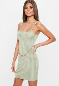 Green Ribbed Dress €38,00