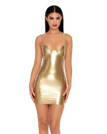 Golden MiniVinyl Dress €36,16