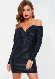 Navy Pinstripe Dress €39,55