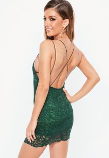 Green Strappy Lace Dress €30,00