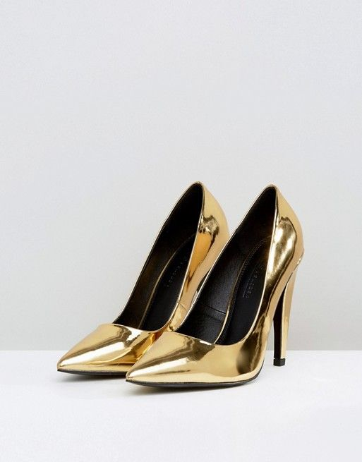 ASOS - PROSECCO - Golden Pumps €13,49