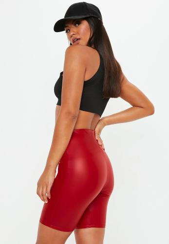 Red Matte Cycling Shorts by MissGuided €18,00