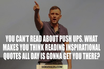 Inspirational self love quote by Gary Vaynerchuck