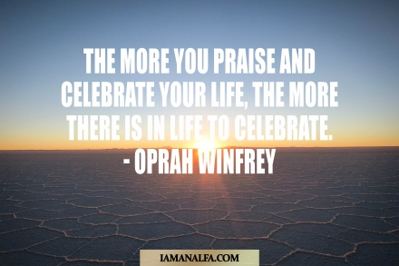 Inspirational quote by Oprah Winfrey
