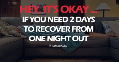 It's okay if you need 2 adays to recover