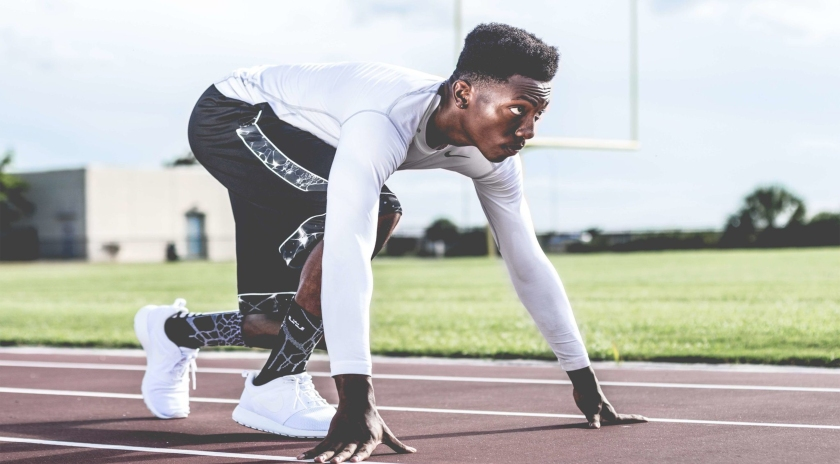 Black athlete determined to win his running race