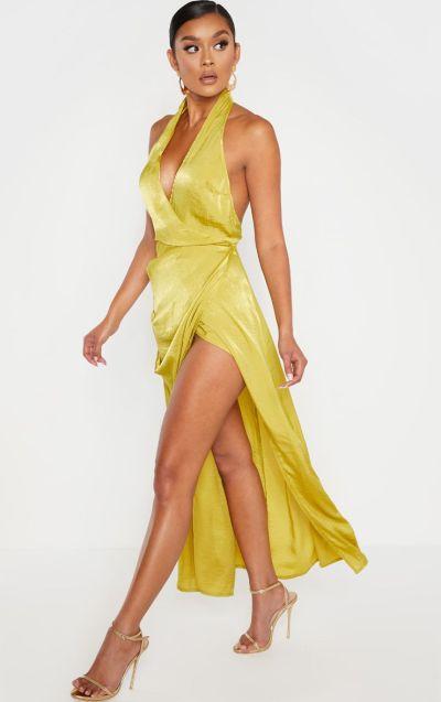 :im maxi dress with split swaying