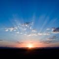 sunrise with blue sky