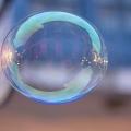 blue floating bubble