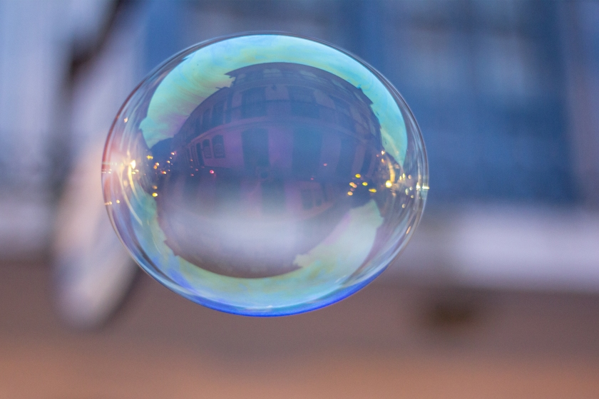 blue floating bubble