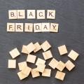 Black Fridat scrabble letters